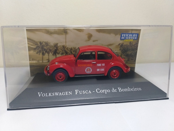 Volks Fusca Corpo De Bombeiros Veículos De Serviços 1/43