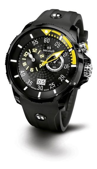 Relógio Seculus Sports Phantomas Swiss 4505422silbby