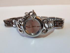 Relógio Original Guess Prata Bracelete Aço Inoxidável