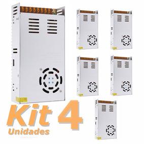 Kit 4 Fonte Chaveada 50a 12v 600w Bivolt 110v/220v
