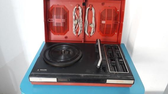 Toca Discos Portatil Maleta Vitrola Philips 623
