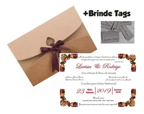 Imagem 1 de 5 de 80 Convites De Casamento Convite De Casamento Rústico Barato
