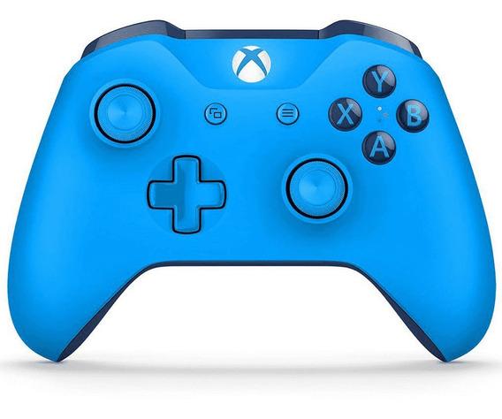Controle Xbox One Azul Novo Com Entrada P2 Original