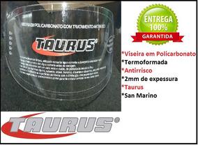 Viseira Taurus San Marino Antirisco 2mm Cristal Transparente