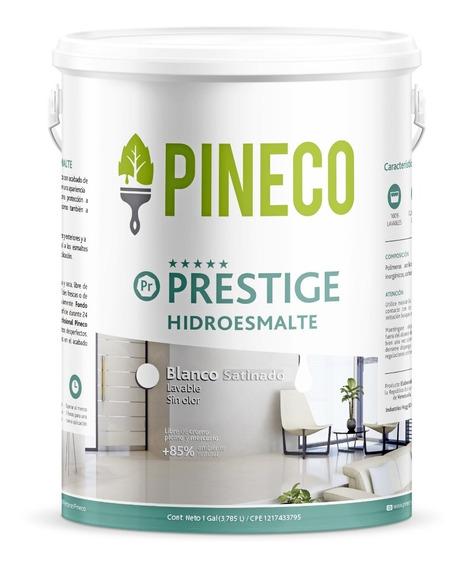 Pintura Blanca - Pineco Prestige Hidroesmalte 1/4 Galón
