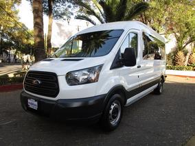 Ford Transit 4p Transit-410,15 Pasajeros Larga,techo Mediano