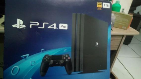 Console Playstation 4 Pro Ps4 1tb 1 Tera Byte 4k Novo !