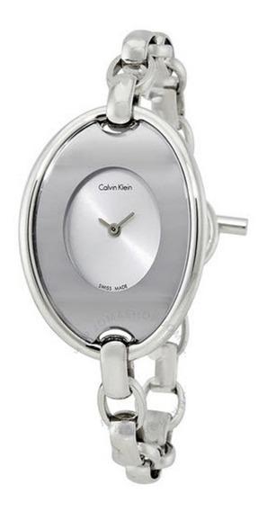 Calvin Klein K3h2m126 Silver Dial 12xs/juros Promoção!!!