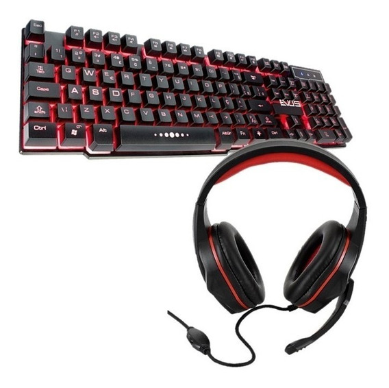 Kit Gamer Teclado Thunder Evus Tc-05/headset Gamer Evus F-02