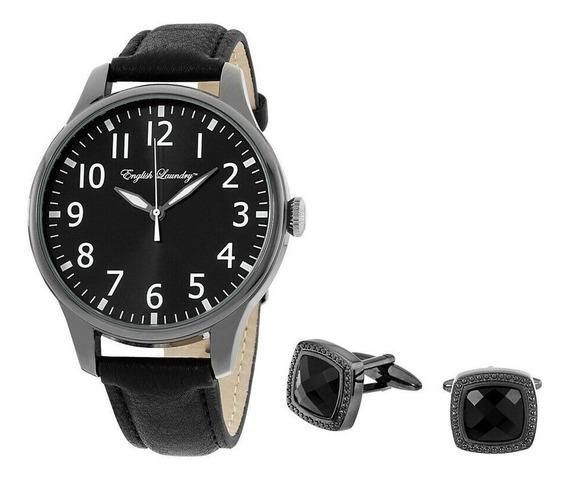 Reloj English Laundry Black Elwn5438b675362