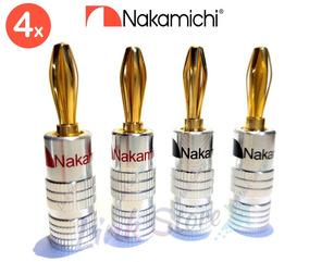 4 Plug Banana Nakamichi Receiver Caixas Yamaha Denon Jbl