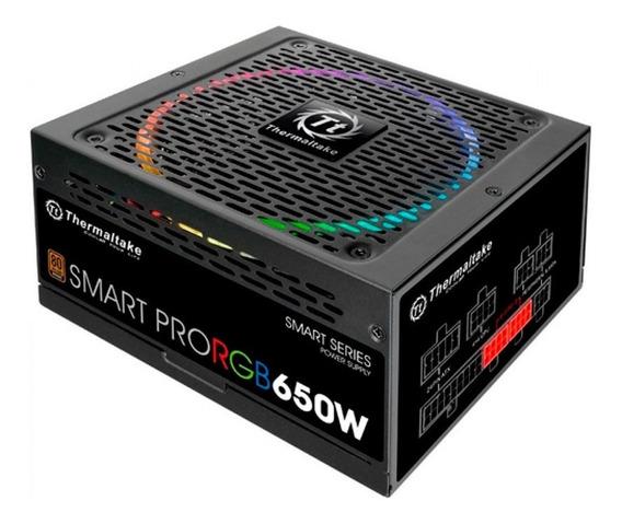 Fonte Thermaltake 650w Smart Pro Rgb 80 Plus Bronze Modular
