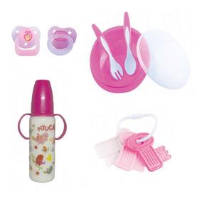 Kit Bebê Menina 3 / Kit Chupeta,mamadeira,acessórios