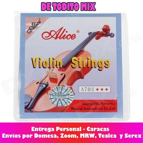 Juego Cuerdas Violin Alice A703 Para 1/4 1/2 3/4 Y 4/4