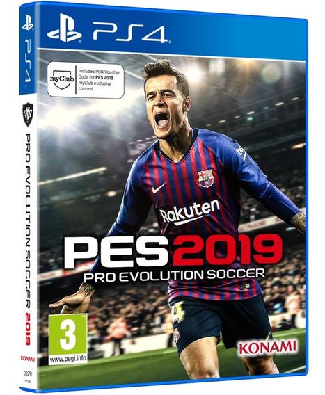 Jogo Pes 2019 Pro Evolution Ps4 Disco Físico Cd Original Br