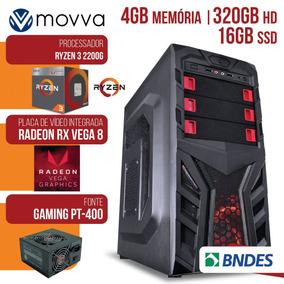 Computador Amd Ryzen 3 2200g 3.5ghz Memoria 4gb Hd 320 Gb