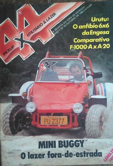 Revista 4x4 Nº24 Outubro 1985 Poster: Engesa Urutu 6x6
