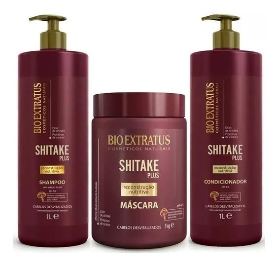 Kit Shitake Plus 3 Produtos 1 L Bio Extratus