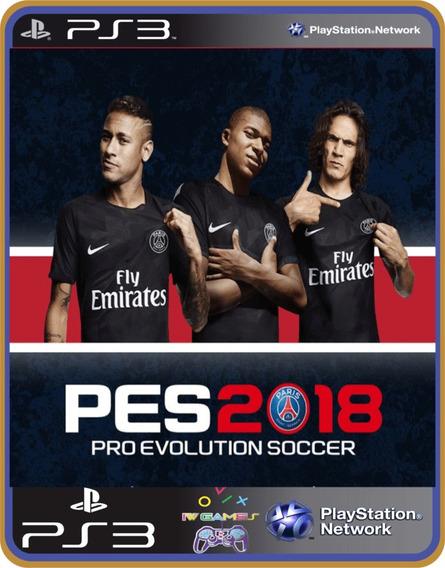Pes 2018 Pro Evolution Soccer Ps3 Psn Dublado Português Br