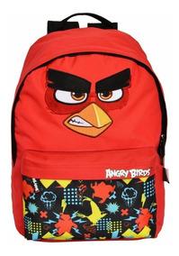 Mochila Escolar Vermelha Angry Birds Santino Frete Grátis