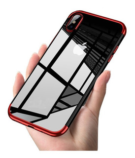 Funda Ultra Slim Transparente iPhone 6 7 8 Plus X Max +mica