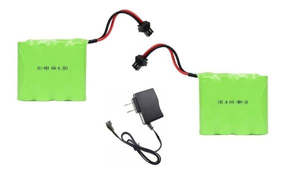Kit 02 Baterias 4,8v 2700mah Ni-mh Smp02 + 01 Carregador 4,8