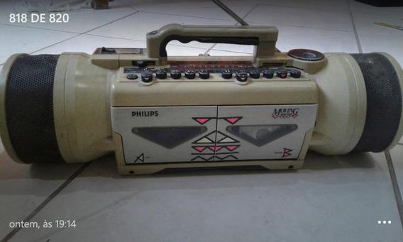 Rádio Gravador Philips Moving Sound Funcionando