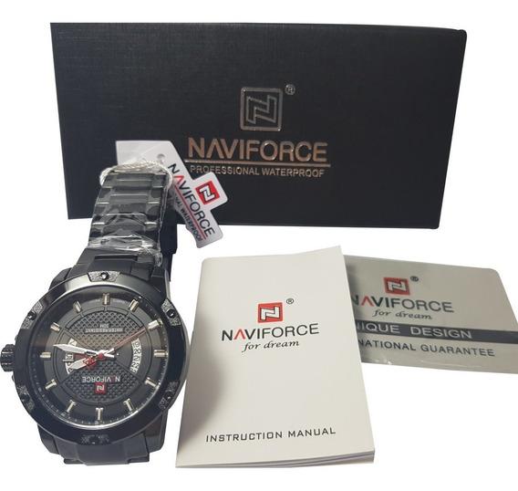 Relógio Naviforce Nf9085 Masculino Aço Inoxidável Com Caixa