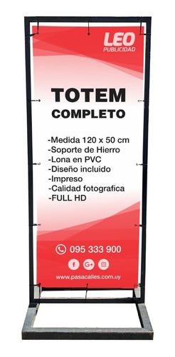 Cartel De Vereda, Totem, Stopper, 180x70 Cm - Leo Publicidad
