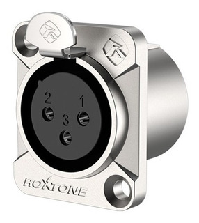 Conector Xlr Hembra 3p, Nickel Plateado Roxtone Rx3fd-nt