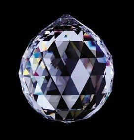 1 Bola Esfera Multifacetada Cristal K9 30mm Feng Shui