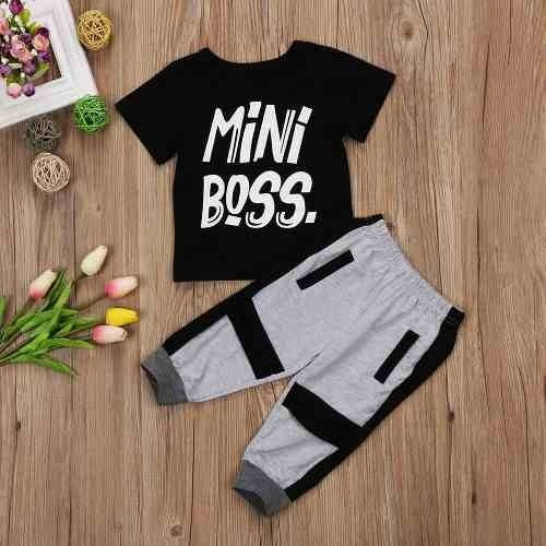 Conjunto Roupa Infantil Menino Fashion Importado Mini Boss