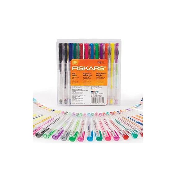 Set Fiskars Gel Pen, 48 Piezas - Varios Colores