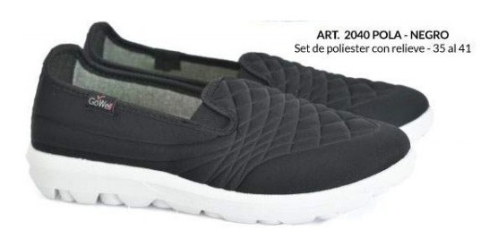 Zapatillas De Mujer Tipo Pancha (gowell 2040)