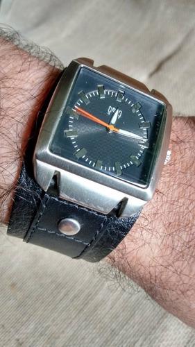 Relógio Masculino Pulseira Couro Bracelete Fossil Nemesis