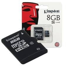 Micro Sd 8 Gb + Adaptador