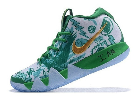 Zapatillas Nike Kyrie 4 White And Green 40-46