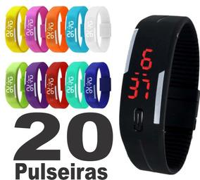 Kit 20 Relógio Pulseira Digital Sport Led Atacado Oferta !!