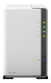 Servidor Nas Storage Synology Diskstation Ds218j 2bais S/ Hd