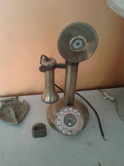 Antiguo Telefono Candelero Para Restauracion O Decoracion