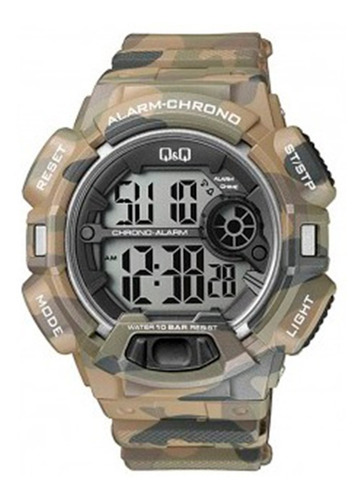 Reloj Q&q By Citizen M132j005 Camuflado 100m Shock Resistant