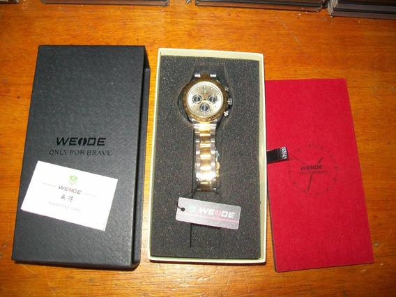 K917 Relógio Weide Inox Polido Finissimo Made Japan Quartz