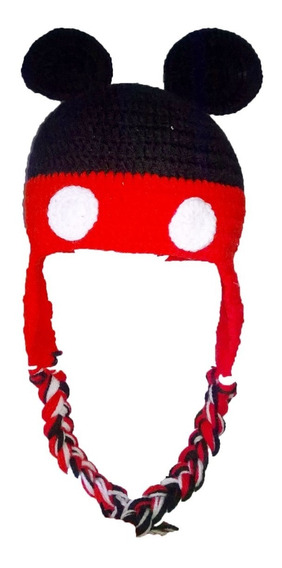 Gorrito Tejido A Crochet Mickey Mouse