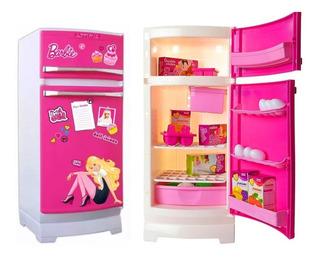 Heladera Barbie Original De La Tv Con Accesorios Lelab
