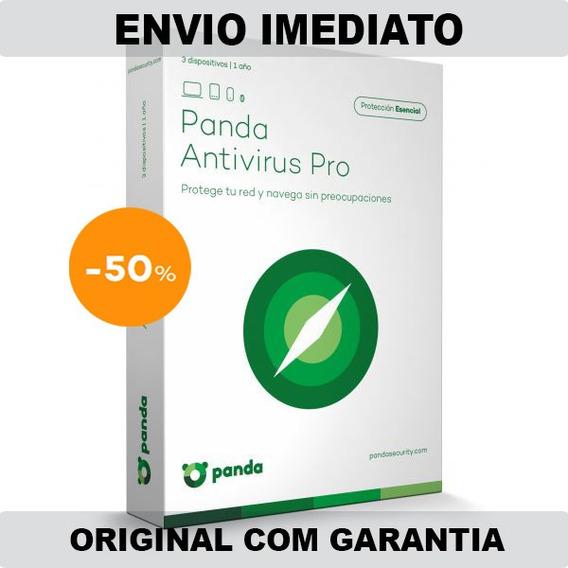 Panda Antivirus Pro Dome Essential 1 Ano 3 Pcs Original