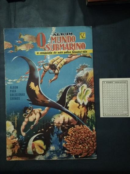 Álbum O Mundo Submarino- Vecchi Completo - 1953 Excelente