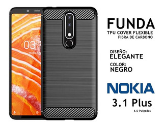 Funda Elegante Flexible Nokia 3.1 Plus Rosario