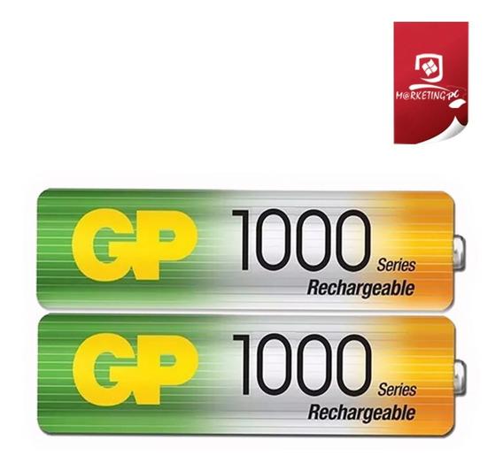 Pilas Baterias Recargables Gp Aa 1000 Mah 2 Unid Sellado