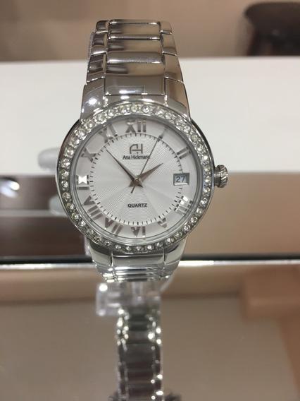 Relógio De Pulso Ana Hickmann Ah28562 Prata Strass Feminino