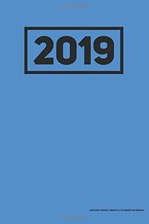 Planificador Mensual Semanal Sin Fecha De 2019 Cuaderno Azul